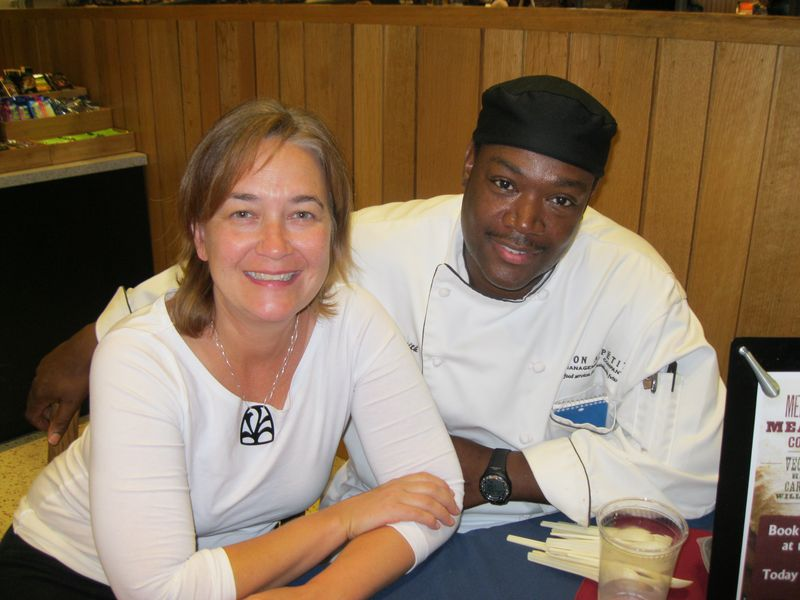Author and Penn alum Kim O'Donnel with Houston Market Executive Chef Christopher Smith